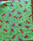 A CHERRY CHERRIES ALL OVER FLEECE FABRIC BY THE YARD