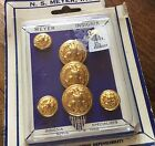 New Old Stock Military Vietnam Era Eagle Insignia Buttons Gold Filled Dress Coat