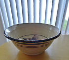 Large Stoneware Bowl with Wheat design  Signed with Chop mark