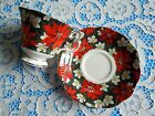 Royal Albert Cup Saucer South Pacific Poinsettia Chintz Flower Red Green Vintage