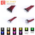 20pcs 3 5 8 10mm DC 9 12V Pre Wired Water Clear White Red Blue Green LED Diodes