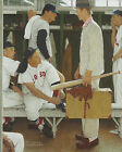 8x10 Norman Rockwell The Rookie Boston Red Sox Baseball Art Print Fathers Day