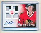12-13 Prime Jaokim Nordstrom BLACKHAWKS ROOKIE QUAD PATCHES ON CARD AUTO SP 50