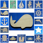 Wooden Shapes Nautical 10 Size Unpainted Wood Beach Pirate Sailing Wall Decor