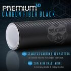 3D Black Carbon Fiber Vinyl Wrap Roll Bubble Free Air Release 24 x 60 In