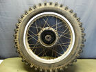 1982 Honda XL500R XL 500 OEM Rear Wheel Tire and Rim 17 Inch - back Spokes  B120