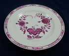 18th C Meissen Purple Indian Hand Painted Dinner Plate