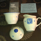 PFALTZGRAFF MAISON BLUE~BUNNY COVERED SUGAR BOWL~ROOSTER CREAMER~NEW IN BOX