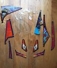 WILLIAMS NO FEAR PINBALL MACHINE USED LOT OF PLASTICS. NICE SPARE PARTS