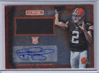 2014 Rookies & Stars RUBY JOHNNY MANZIEL Rookie Jersey & Autograph Serial #17 50