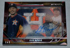 JOSE ALTUVE 2015 TOPPS STRATA GAME USED RIVET PATCH AUTO TRUE 1 1 HIS BEST CARD?