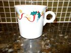 SALE!!HOLLY RIBBON & STARS  RING HANDLE TOM & JERRY MUG CUP FIESTA WARE U.S.A.!!