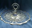 Eapg Glass Pressed Sandwich Server Cake Cookie Tidbit Tray Plate Handle Jennette