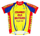 Cranky Old Bastard Bicycle Club Team Cycling Jersey Yellow Mens Short Sleeve