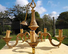 Fantastic french vintage lois XV style brass chandelier ceiling light, 5 lights
