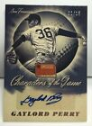 Gaylord Perry 2013 Panini Americas Pastime Characters of the Game Auto #'d 1 15