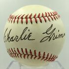 Beautiful Charlie Grimm Signed Autographed Baseball Chicago Cubs Manager PSA DNA