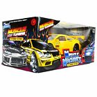 Muscle Machines Diecast Model Car 1 24 Honda Accord Yellow Funline Muscle Tuner