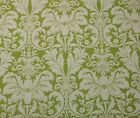 LACEFIELD DESIGNS CHARLOTTE CELERY GREEN FLORAL DAMASK FABRIC BY THE YARD 55W