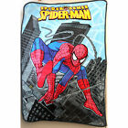 NEW Kids Boys Fur Fluffy Soft Carton Bedding Blanket Spiderman Polar Throw SZ14