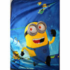 NEW Kids Fur Fluffy Soft Carton Bedding Blanket MINIONS Polar Throw SZ 140100cm