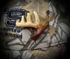 HAND CARVED DEER ANTLER HAT PIN MOOSE ANTLER ANTLERS CARVING ART HAT PIN OAK