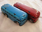 Hot Wheels Red Line Surfin School Bus Lot of 2 Red and Blue Lose Great Condition