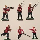 Trophy Miniatures of Wales: British 24th Foot Zulu Wars: 6 Lead Soldiers,Child