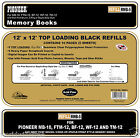 12-Pack Pioneer RMB-5 12x12 Black Memory Book Refill Pages - 60 Sheets