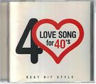 LOVE SONG FOR 40'S BEST HIT STYLE CD MINT HALL OATES AIRPLAY STARSHIP PARSONS