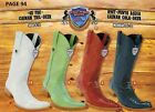 Wild West Mens 6X Toe Caiman Tail Deer Cowboy Western Boots Diff Colors