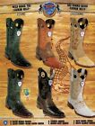 Wild West Mens Rodeo Toe 1 2 Vamp Caiman Belly Cowboy Western Boots DiffColors