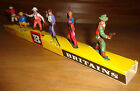 Far West COWBOYS + shop display BRITAINS HERALD ARGENTINA Plastic Soldiers 1970