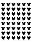 48 MICKEY MOUSE HEAD FACE EARS ENVELOPE SEALS LABELS STICKERS 12 ROUND