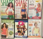 6 workout exercise fitness DVD lot shape 10 minute solution weight watchers QF