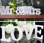 MrMrs+LOVE Wooden Letters Wedding Reception Sign Solid Table Centrepiece Decor
