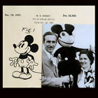 Vintage 1930 Walt Disney MICKEY MOUSE Patent Drawing + Rare Photo