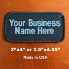 Custom Embroidered Patch Personalized Name Tag Motorcycle Biker Badge Dark Navy