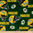 NFL Fleece Green Bay Packers Green Yellow by the yard