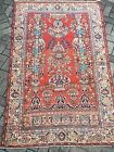 4'2 x 6'9 antique Kashan persian hand knotted wool oriental rug