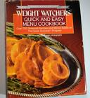 Weight Watchers Quick and Easy Menu Cookbook 1988 Hardcover w Dust Jaacket GUC