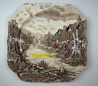 Johnson Bros OLDE ENGLISH COUNTRYSIDE BROWN/ MULTICOLORED Square Salad Plate EX