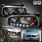 2006-2010 Dodge Charger LED Headlights w/Built In Corner Signal Lights Black