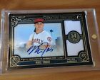 2016 Mike Trout topps museum gold dual jersey auto 25