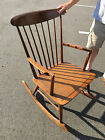 Danish Modern Mid Rocking Chair Rocker with Cane Seat Nearly Pristine Condition