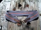 46 in Vintage English Girth fabric surcingle red white and blue
