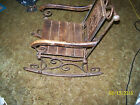 very rare child rocking chair metal and wood