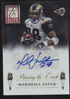 2015 Donruss Elite Marshall Faulk Todd Gurley RC Passing the Torch Auto 25