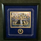 Warriors 2015 Champions w- Kerr framed Commemorative with Replica Ring