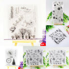 Christmas Tree  Flower DIY Silicone Clear Rubber Stamp Sheet Scrapbooking Album